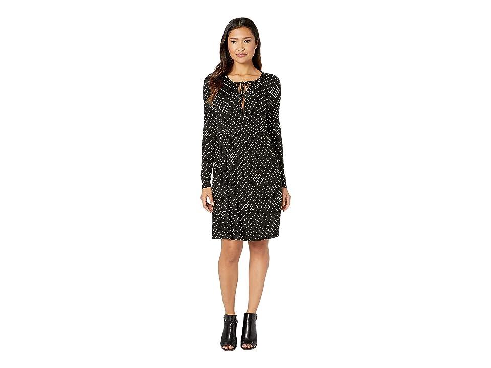 B Collection by Bobeau Galilea Surplice Dress (Black Nomadic Dot) Women
