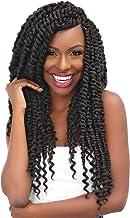 """Janet Collection Crochet Braids Nala Tress Mambo Passion Twist 18"""" (5-PAKC, BURG)"""