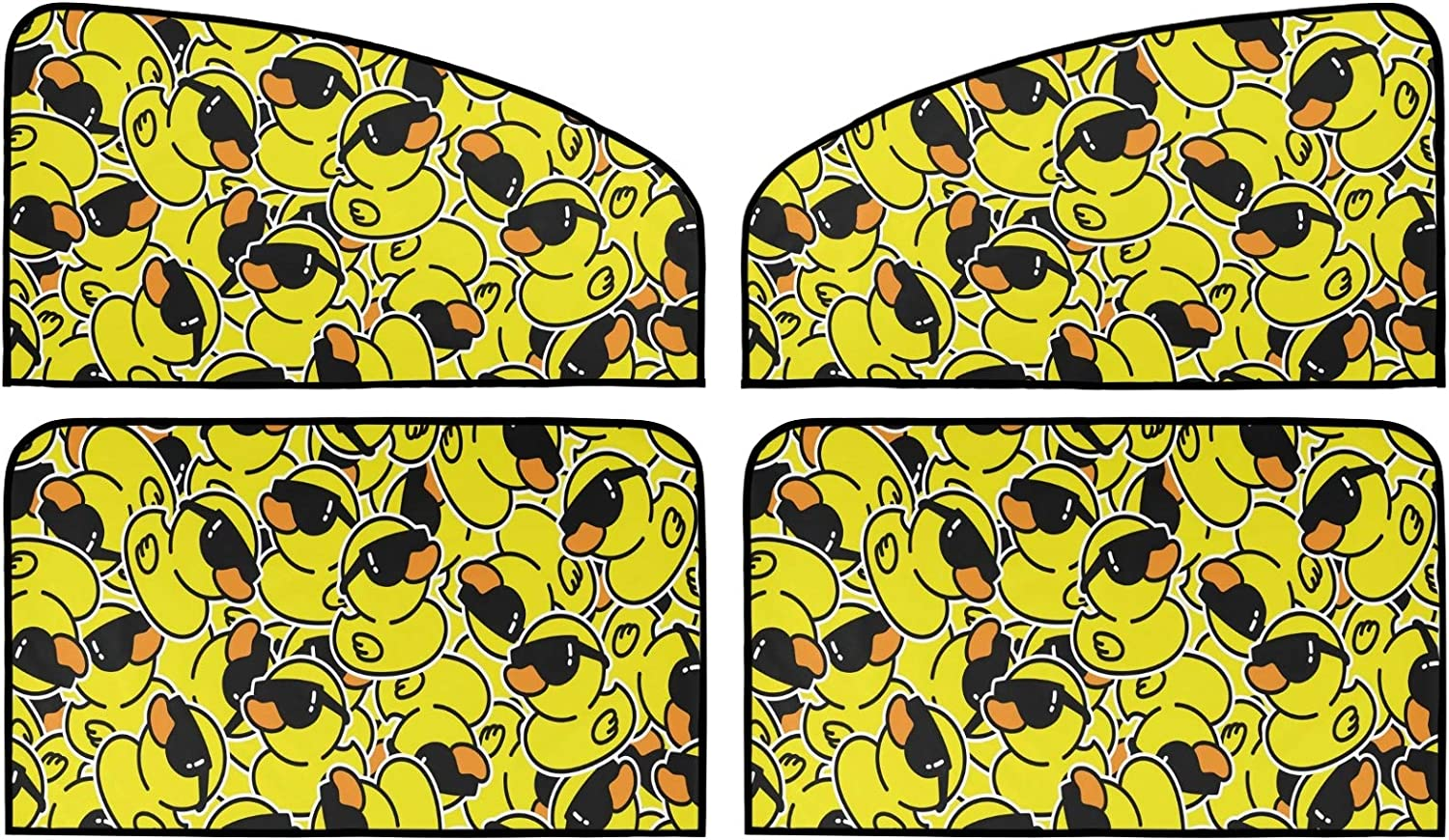Rubber Duck Choice Car Sun Shade 4 Pack Insulation Universal Mag Opening large release sale Summer