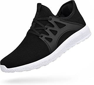 Porclay Men's Sneakers Lightweight Breathable Mesh Athletic Running Walking Sport Shoes
