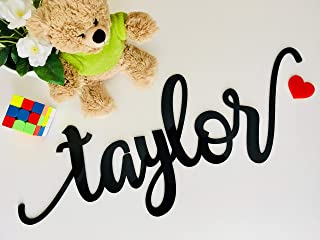 Personalized Laser Cut Large Name Sign Wall Baby Any Name Sign Letters for Nursery First Birthday Party Backdrop Decor Acrylic Wood Mirror Custom Names Script Tags Plaque Bedroom Hanging Decorations