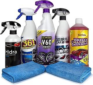 Sisbrill Kit Detail Básico - Productos de Limpieza y Cuidado del Interior y Exterior - Coche y Moto