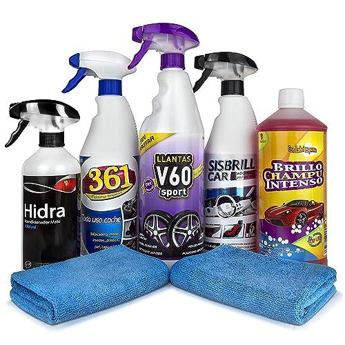 Sisbrill Kit Detail básico | Productos de Limpieza y Cuidado del Interior y Exterior | Coche