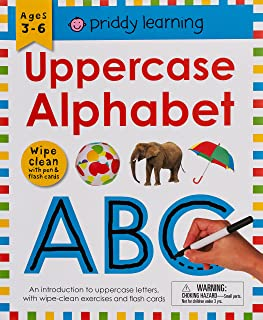 Wipe Clean Workbook: Uppercase Alphabet (Enclosed Spiral Binding): Ages 3-6; Wipe-Clean with Pen & Flash Cards