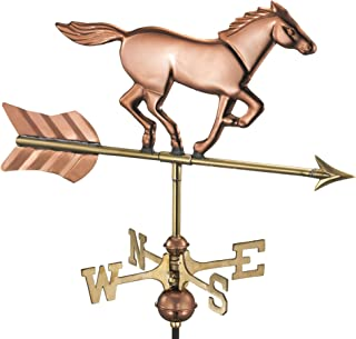 Good Directions 801PR Horse Cottage Weathervane, Polished Copper with Roof Mount