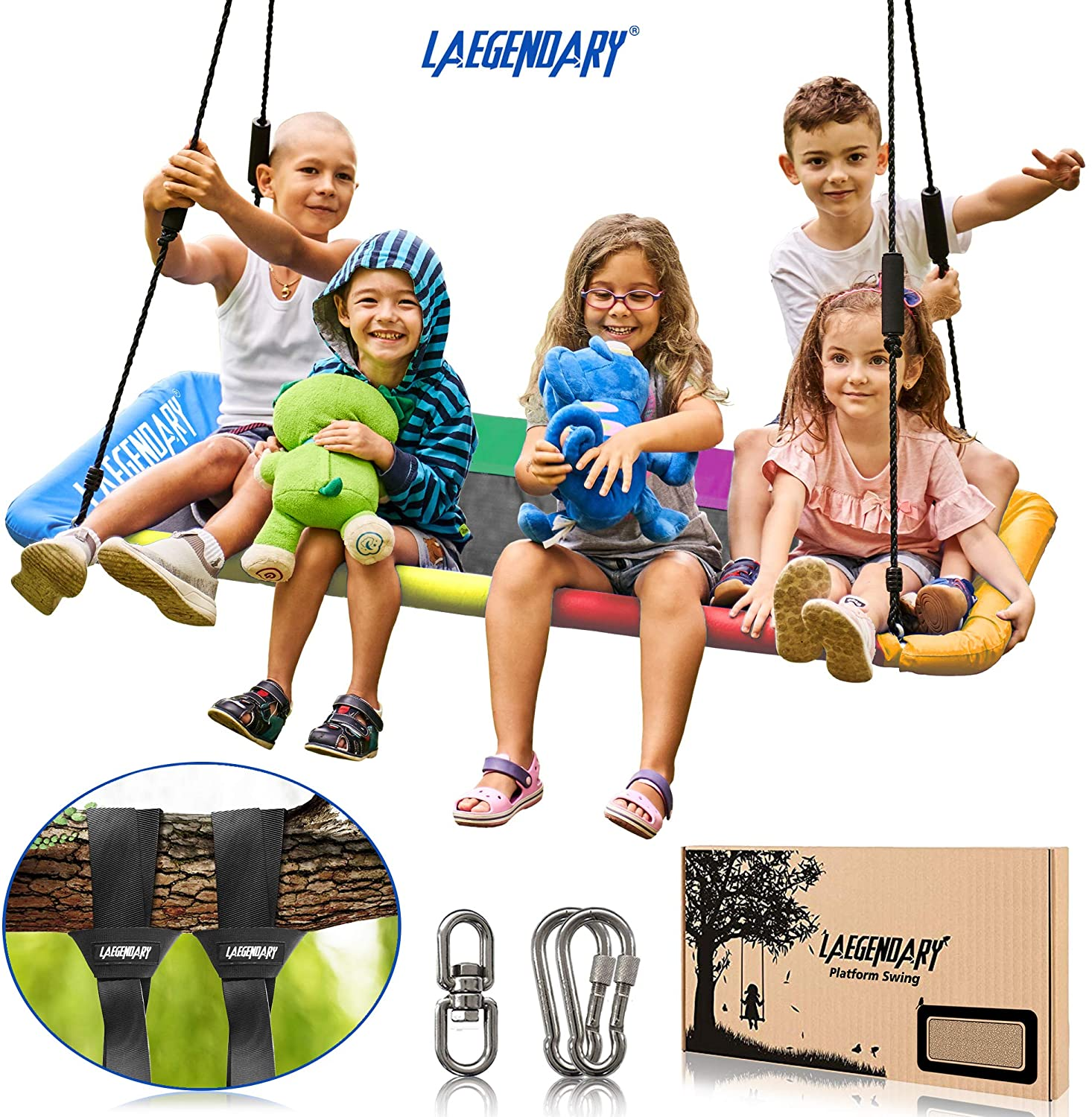 60 Inch Platform Tree Swing for Kids and Adults – Giant Fly