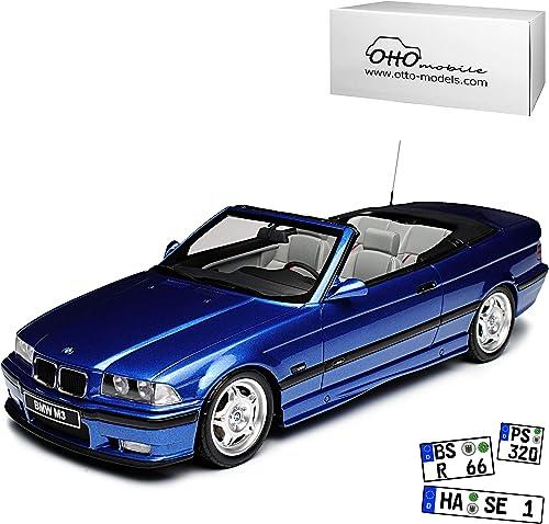 Unbekannt B-M-W 3er E36 M3 Cabrio Blau 1990-2000 Nr 279 1 18 Otto Modell Auto mit individiuellem Wunschkennzeichen