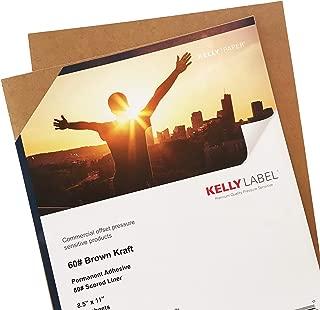 Premium Kraft Paper Labels 8.5 x 11 in Full Letter Sheet Sticker, Printable, Self-Adhesive, Scored Backs (10 Sheets)