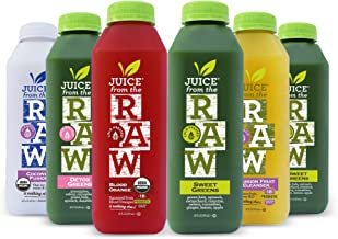Juice From the RAW 3 Day Organic Juice Cleanse - Believer Cleanse with Probiotics - 18 Bottles - Free 2-Day Delivery