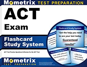 ACT Exam Flashcard Study System: ACT Test Practice Questions & Review for the ACT Test (Cards)
