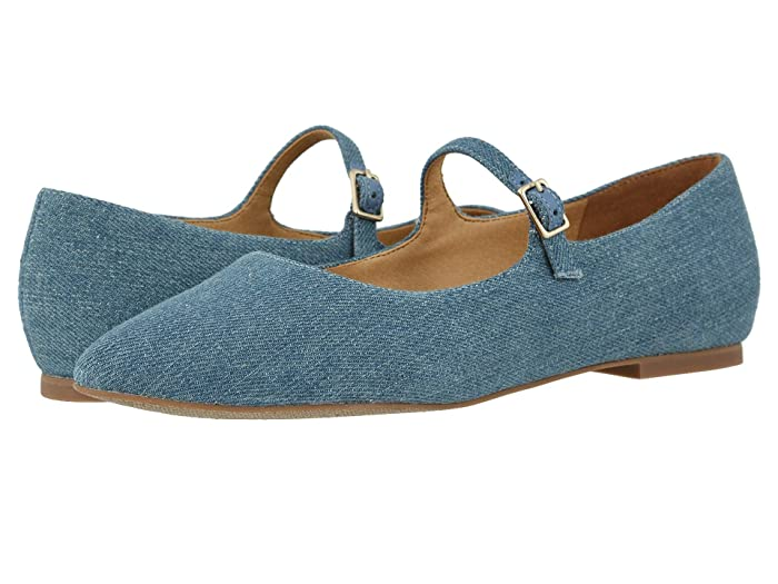 Retro Vintage Flats and Low Heel Shoes Trotters Hester Light Blue Womens Shoes $69.99 AT vintagedancer.com