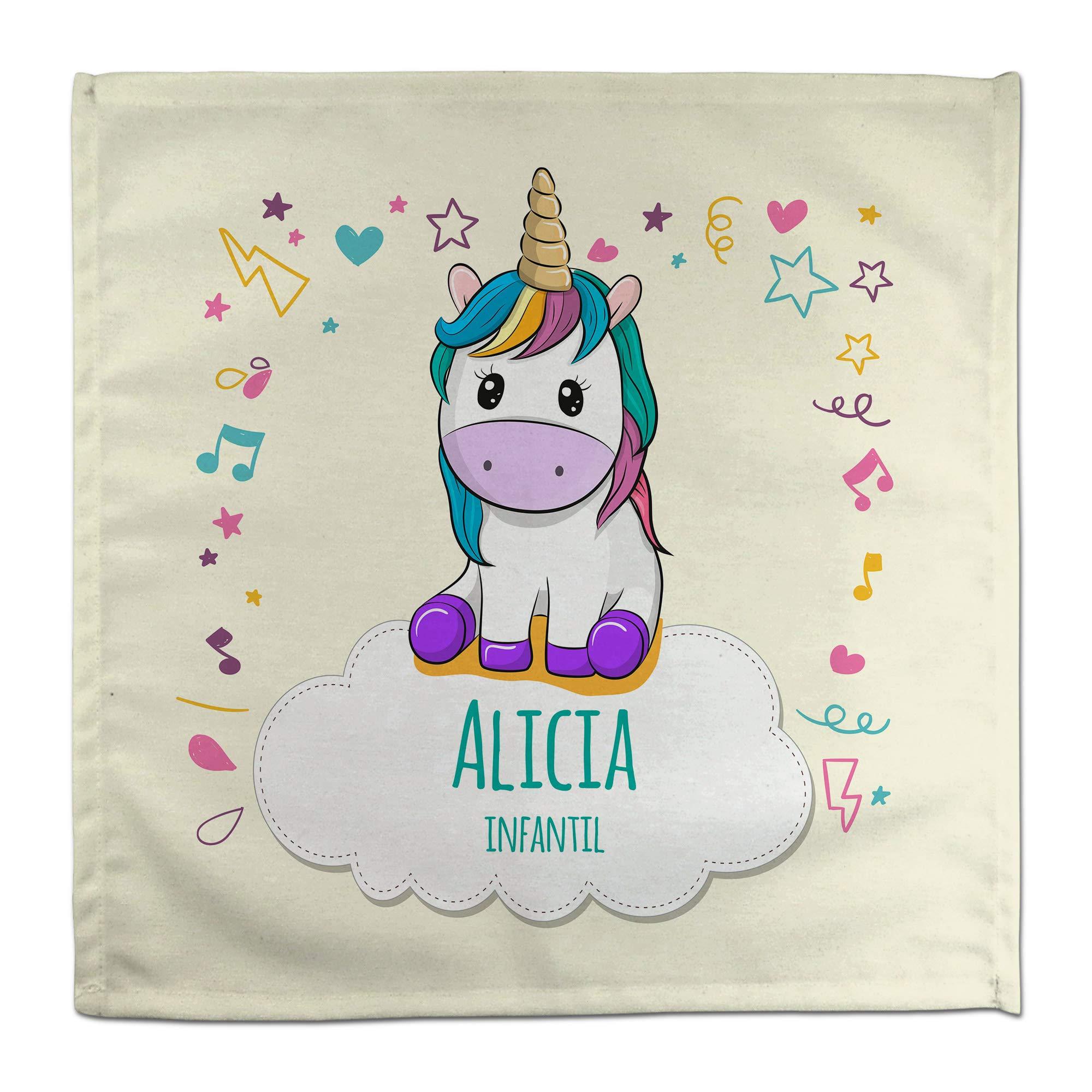 Servilleta Unicornio Personalizada Vuelta al Cole con Nombre y ...