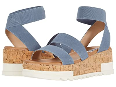 Steve Madden Bandi Wedge Sandal (Dusty Blue) Women
