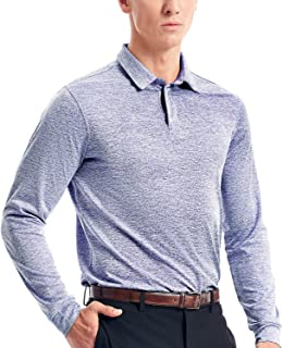 Long Sleeve Golf Polo Shirts for Men