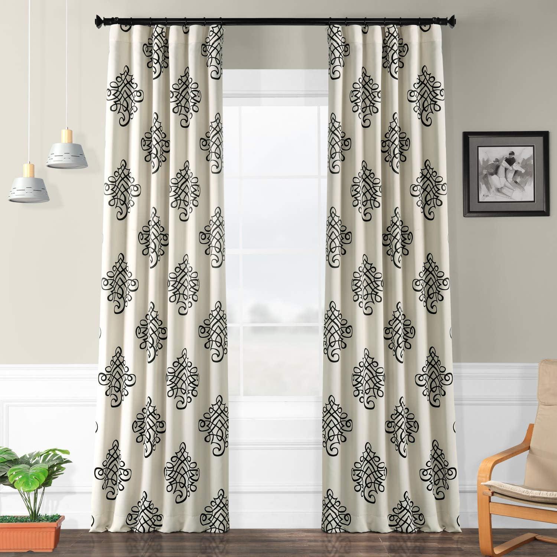 HPD HALF PRICE DRAPES BOCH-KC33-108 Tugra Room Darkening Curtain 50 x 108 Tugra 1 Panel