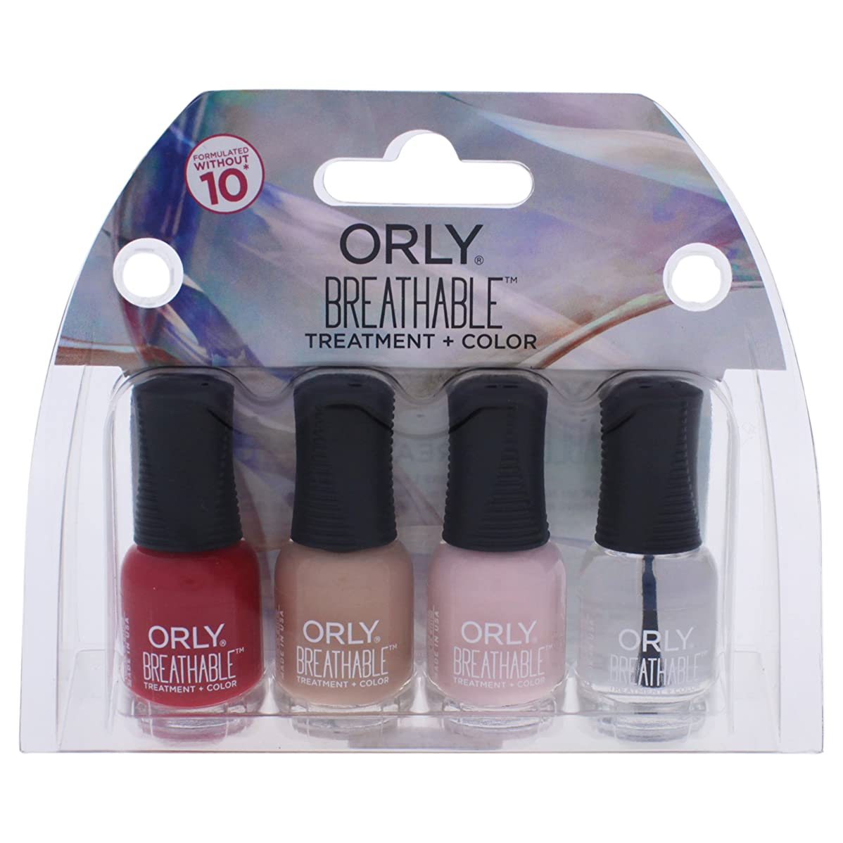 シニスティッシュ先見の明Orly Breathable Nail Lacquer - Mini 4pc Kit #3 - 0.18oz / 5.3ml Each - 28903