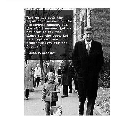 Vintage Photo Portrait President John Kennedy Smoke Cigar Jfk Usa Framed Print