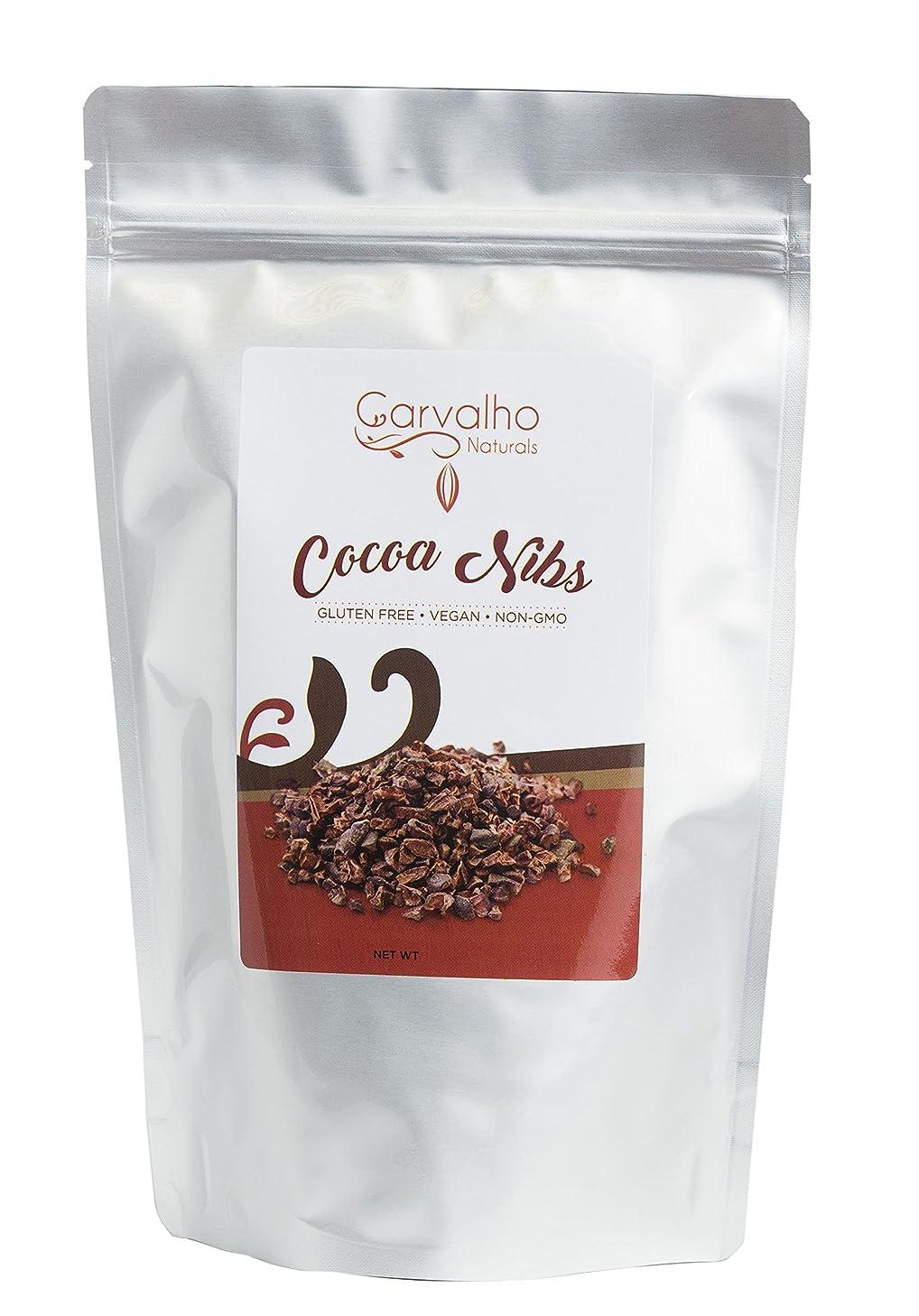 Carvalho Naturals Organic Cocoa Nibs, Unsweetened Cocoa Nibs, Non-GMO, Kosher, Vegan & Gluten Free Cocoa Nibs, 16 Oz