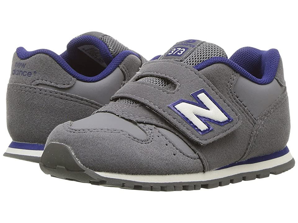 New Balance Kids KV373v1 (Infant/Toddler) (Grey/Navy) Boys Shoes