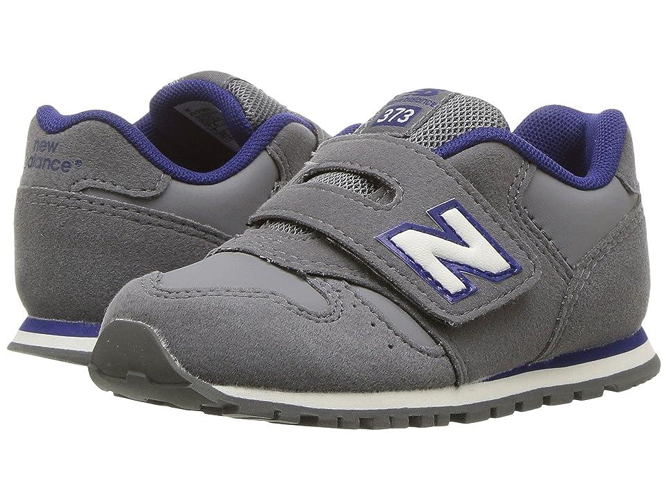 New Balance Kids KV373v1 (Infant/Toddler) (Grey/Navy) Boys Shoes