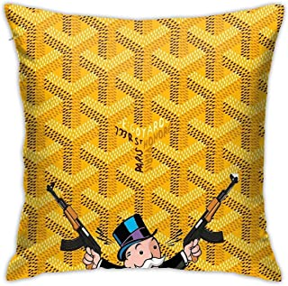 JACHE Gun Bape Decorative Throw Pillow Covers for Sofa Couch Cushion Pillow Cases 18x18 Inch