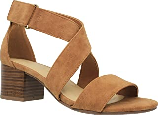 Women's Open Toe Strappy Low Heeled-Sandals