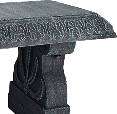 Arcadia Garden Products BE01 Fiberclay Garden Bench, Stone Black