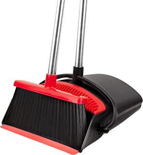 Broom and Dustpan Set - Strongest NO MORE TEARS 80% Heavier Duty - with Extendable Broomstick for Easy Sweeping - Easy Ass...