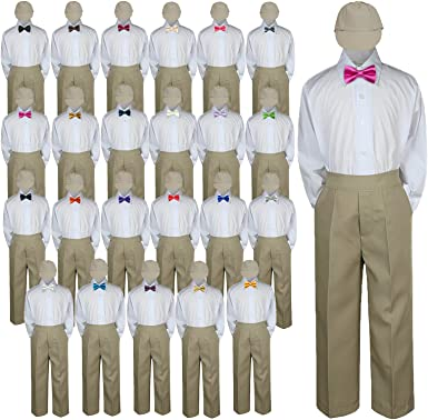 What color shirt and tie with khaki pants