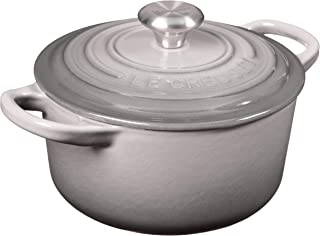 Le Creuset LS2501-147FSS Signature Enameled Cast-Iron Round French (Dutch) Oven, 1-Quart Oyster