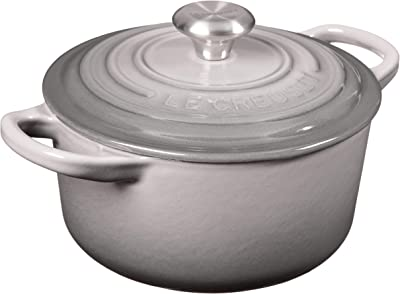 Le Creuset Enameled Cast Iron Signature Round Dutch Oven, 1 qt., Oyster