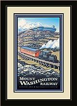 لوحة فنية جدارية مؤطرة Northwest Art Mall PB-4982 MFGDM Mount Washington Railway من تصميم الفنان بول ليتون ، 13 × 16