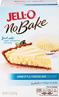JELL-O Homestyle No Bake Cheesecake Gelatin Dessert Mix (11.2 oz Box)