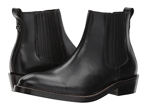 Boot Chelsea COACH COACH Chelsea Leather Black 4B7CqpCUnw
