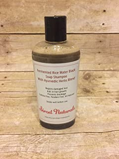 Fermented Rice Water Black Soap Shampoo with Ayurvedic Herbs Blend