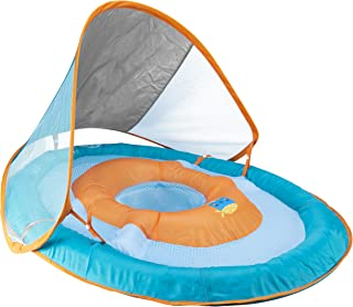 SwimWays Baby Spring Float Sun Canopy – Green Fish