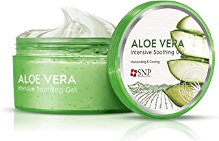 SNP - Intensive Aloe Soothing Gel - Maximum Cooling & Moisturization for All Sensitive Skin Types - Excellent After Sun Ca...