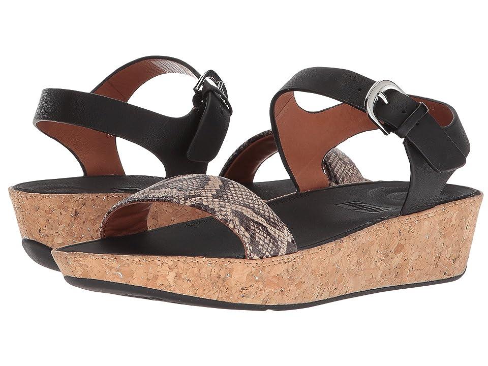 FitFlop Bon II Back Strap Sandals (Taupe Snake/Black) Women