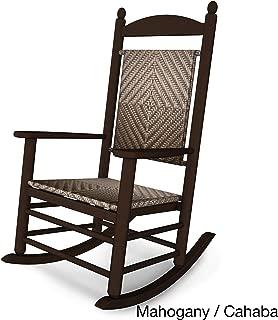 Rocker Jefferson Woven Chair Frame Finish: Mahogany, Seat/Back Finish: Cahaba