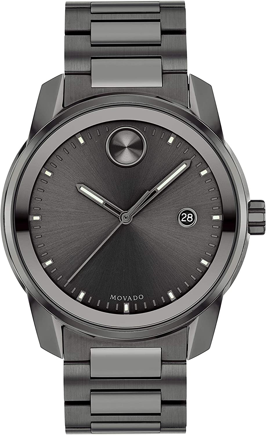 Movado Men's Swiss Quartz Direct sale of manufacturer Watch Strap Grey with Stainless SEAL limited product Steel