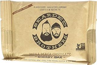 Bearded Brothers Mega Maca Chocolate Energy Bar - Raw, Vegan, Gluten & Soy Free, Non-GMO, Bars, 12 Piece
