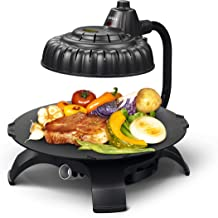 Zaigle ZG-HU375 Handsome Infrared KBBQ Electric Grill, 120v, 3 pans, tongs included (Black)