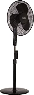 Black & Decker 16 in. Stand Fan with Remote, Black