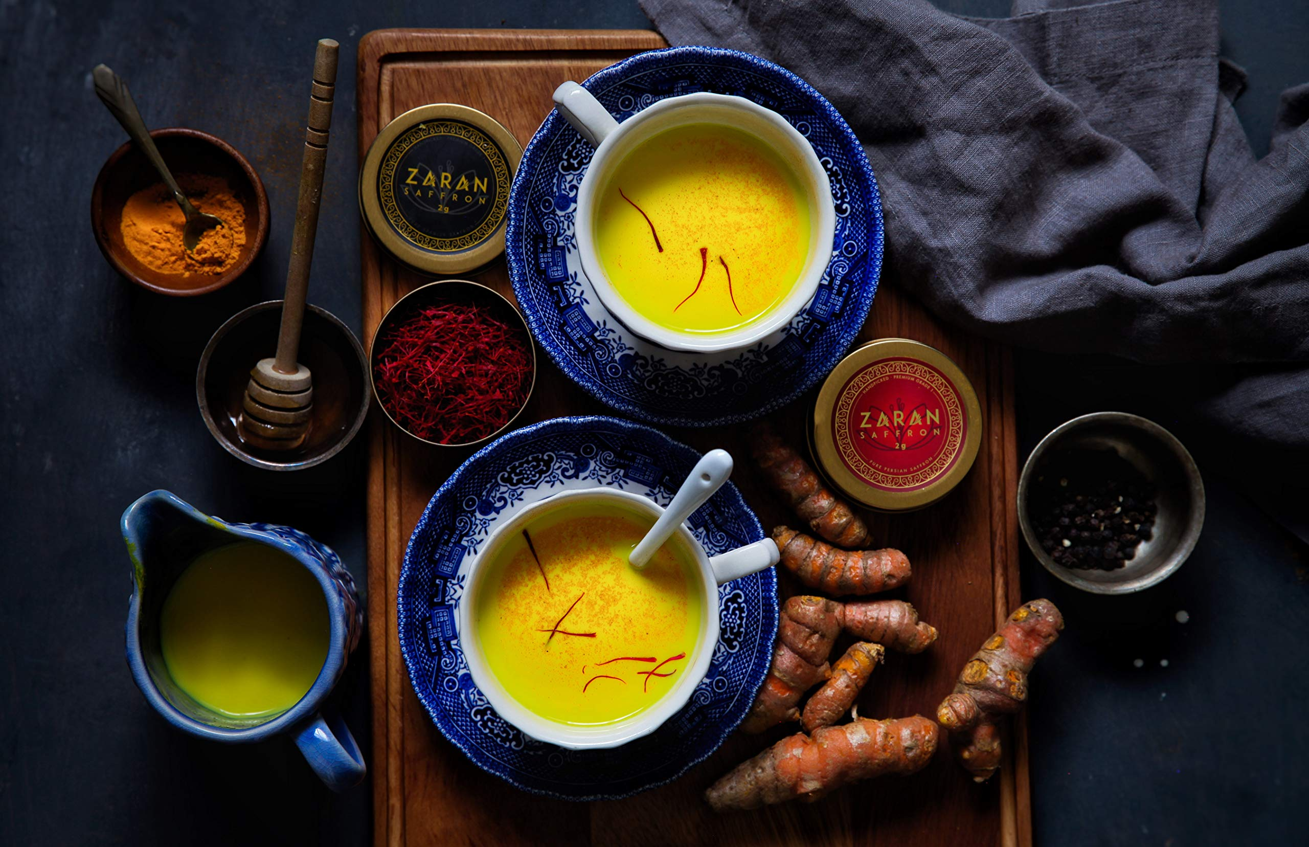 Zaran Saffron, Superior Saffron Threads (Premium) All-Red Saffron Spice for your Paella, Risotto, Persian Tea, Persian Rice, and Golden Milk) (Spanish (Coupe), 2 Grams)