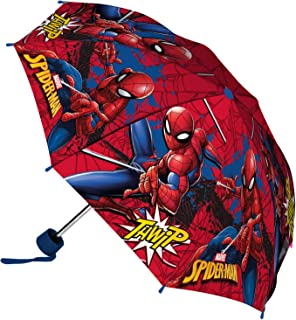 Marvel Spider-Man Paraguas Plegable, para niños, Multicolor