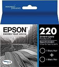 Epson DURABrite Ultra Black Dual Pack Standard Capacity Cartridge Ink for Select Epson Printer (T220120-D2)
