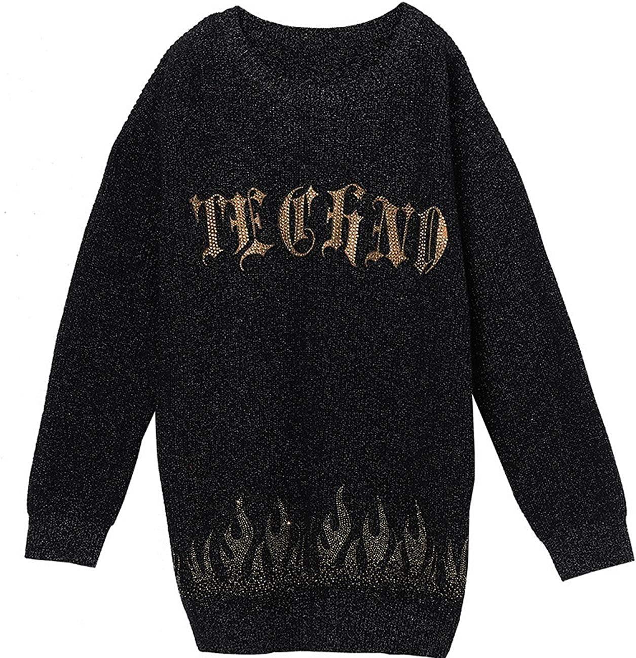 Light Luxury Tide Brand Big C hot Beads Sweater T203093005