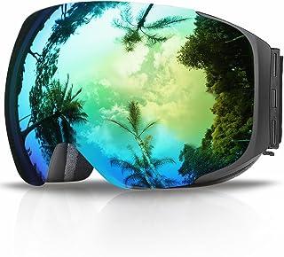 comprar comparacion Gafas de Esquí, eDriveTech Máscara Gafas Esqui Snowboard Nieve Espejo para Hombre Mujer Adultos Juventud Jóvenes Chicos Ch...