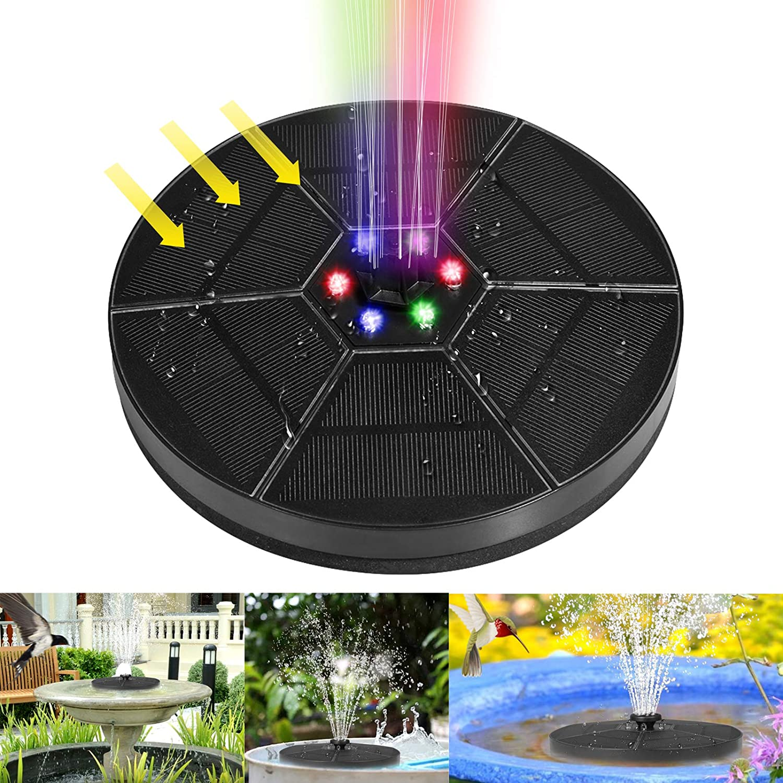 Solar Fountain Upgraded 7-in-1 Hamosky Oakland Mall Ranking TOP19 Powere 3.5W Nozzle