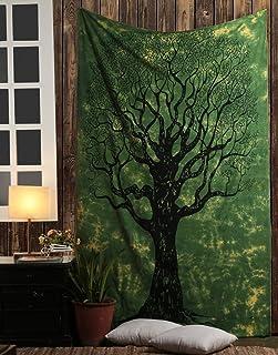 AOUDICHYA Dry Tree Mandala Tapestry Wall Hanging Indian Cotton Tapestries Bedspread Picnic Beach Throw Blanket Wall Art Hi...